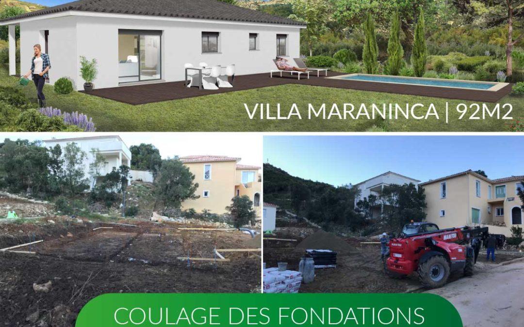 Nouveau chantier à Oletta   Coulage des fondations