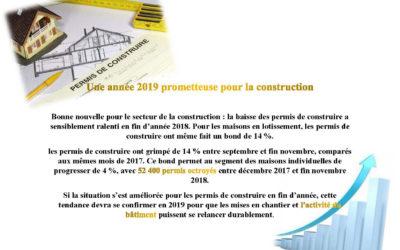 Une année 2019 prometteuse pour la construction